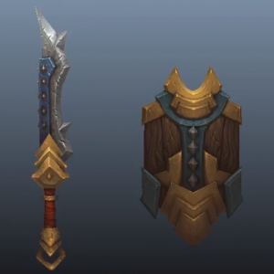 "Learn the ""Hand-Painted"" texturing style (sword) 