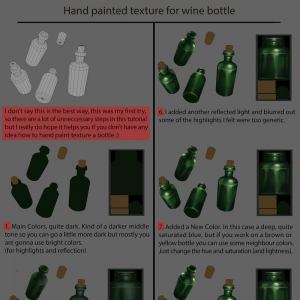 Hand Painted Wine Bottle | tsabszy