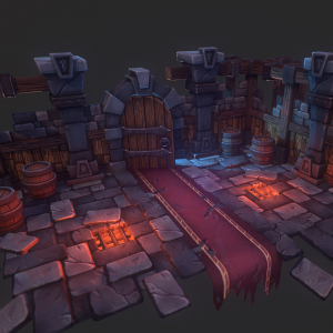 Stylized Dungeon Environment | Tobias Koepp
