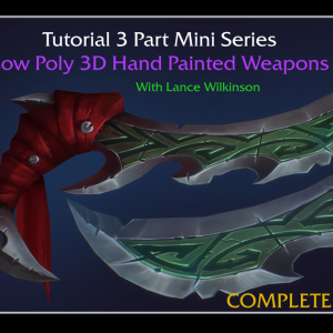 Low Poly 3D Hand Painted Weapons | Lance Wilkinson